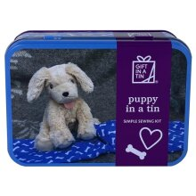 Puppy in a Tin - simple sewing kit
