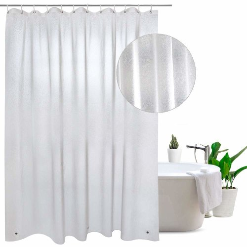 Shower Curtain Transparent Liner With Magnets Bottom Waterproof Mildew Resistant