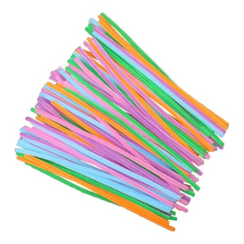100 Pastel Pipe Cleaners 30cm x 8mm
