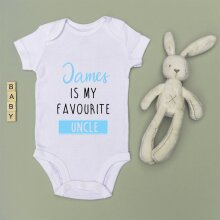 Personalised Baby Grow - Favourite Auntie/Uncle - BLUE
