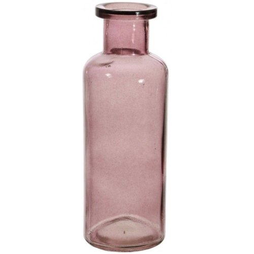 Glass Flower Vase With Unique Tall Funnel Neck Bottle Vase Wine Colour On Onbuy