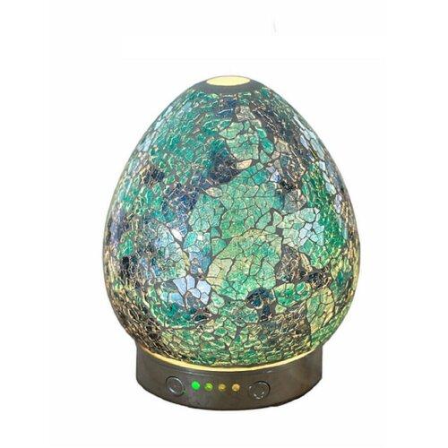 Sense Aroma Electric LED Mosaic Oil Diffuser Ultrasonic Aromatherapy Gift Aurora Turquoise15.5cm