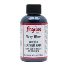 Angelus Acrylic Leather Paint 4 fl oz/118ml Bottle. Navy Blue 042