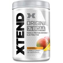 XTEND Original BCAA Powder Mango   Branched Chain Amino Acids Supplement   7g BCAAs + Electrolytes for Recovery & Hydration   30 Servings