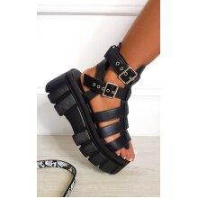 IKRUSH Womens Kristy Strappy Platform Sandals