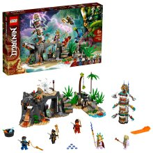 LEGO 71747 NINJAGO The Keepers' Village Building Set, with Ninja Cole, Jay and Kai Minifigures, Toys for Kids 8 + Years Old