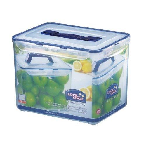 Lock & Lock Rectangular Storage Container - Clear/Blue, 12 L
