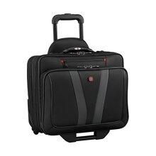 Wenger Luggage Granada Pro Padded Wheeled Laptop Bag with Pass-Thru Black 15.6-inch