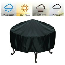 Round Fire Pit Cover Waterproof BBQ Outdoor Patios Garden Protector