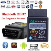 Twolacking ELM327 V2.1 OBD2 Bluetooth Car Scanner Android Auto Torque Diagnostic Scan Tool