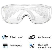 Eyewear Reusable Transparent Safety Goggles Protective Anti-Splash Anti-dust Breathable Medical Work Eye Protection Glasses