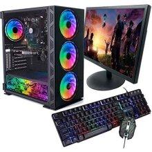 "Veno Scorp Gaming PC Bundle Intel Core i7 2600 16GB Ram 256GB SSD 1050Ti 4GB Win 10 19"" TFT Keyboard & Mouse NeonZilla - Refurbished"