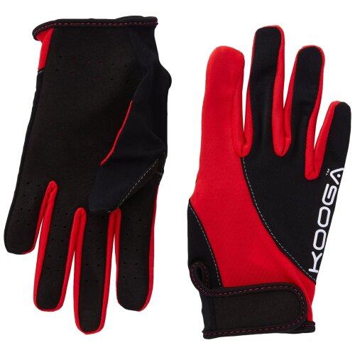 Kooga Protection Full Gloves - Black/Red, Small