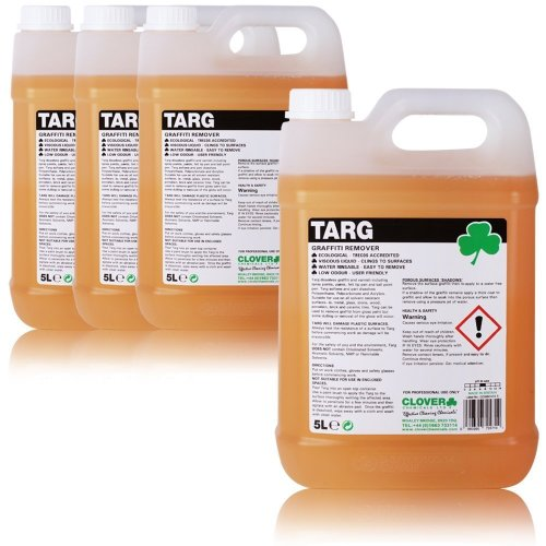5L Clover TARG GRAFITTI REMOVER CLEANER FROM BRICK, GLASS, ect ...