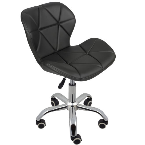 (Grey) Charles Jacobs Cushioned Swivel Office Chair