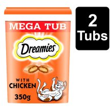 DREAMIES Cat Treats With Chicken 2x350g MegaTub