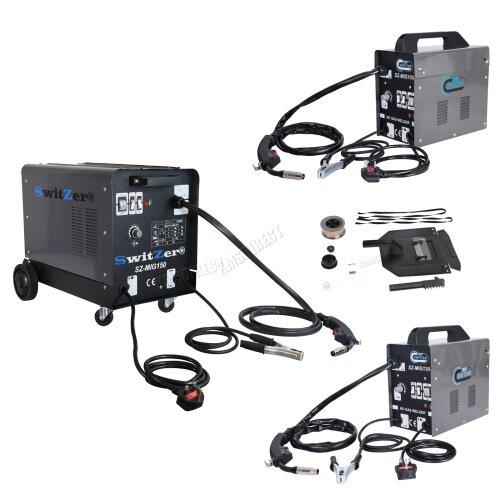 SwitZer Portable Gasless Welder Welding Machine With Kit Mask Arc MIG 230V Grey