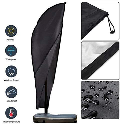 OKPOW Parasol Cover Cantilever Upgraded 600D Oxford Fabric Waterproof Patio Umbrella Covers with Zip (280 * 81 * 45cm), for 9ft to 11ft Garden Outdo