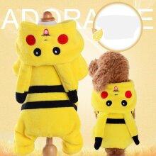 Pokemon Pet Dog Cat Clothes Costume Pikachu Halloween
