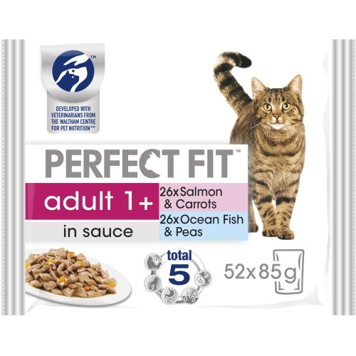 PERFECT FIT Cat Pouches Adult 1+ Mixed Fishy 4x85g (Pack Of 13)