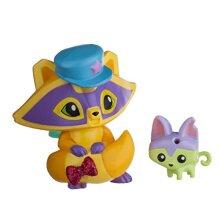Animal Jam Posh Raccoon & Pet Kitty Mini Figure 2-Pack