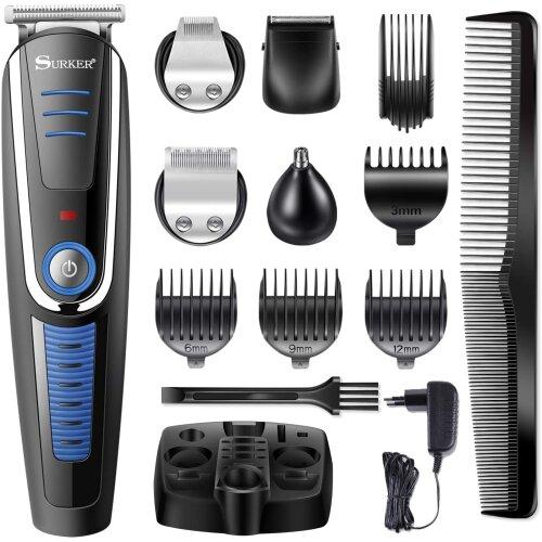 Surker Pro Grooming Kit Cordless Hair Clipper Beard Trimmer Shaver Machine Set