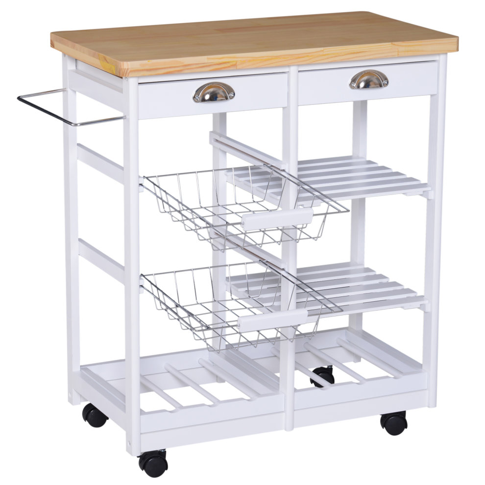 Homcom Rolling Kitchen Island Trolley