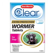 Bob Martin Clear 3-in-1 Dog Wormer Tablets | Dog Worming Tablets