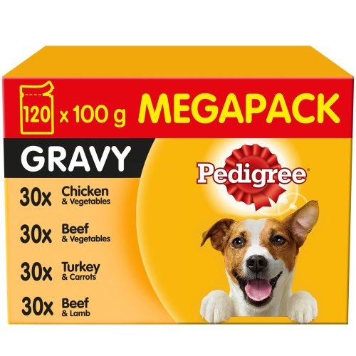 Pedigree Adult Wet Dog Food Pouches Mixed Selection in Gravy - 120x100g