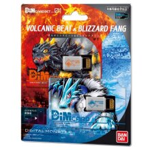 Bandai Dim Card Set Vol.1 Volcanic Beat & Blizzard Fang For Vital Bracelet Series Digital Monster