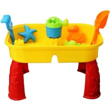 Sand Water Table with Lid Accessories Kids Outdoor Play Garden Sandpit