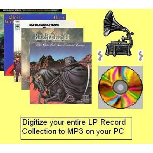Vinyl records to MP3 PC conversion Kit 3M Cable Kit