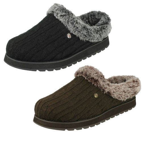 Womens Skechers Memory Foam Slippers Ice Angel