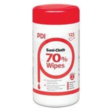 PDI Sani-Cloth 70 Alcohol Wipes - 6 Packs (125 Wipes/Pack)