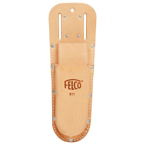 Felco 911 double pocket leather holster for saw and secateurs with Loop and clip