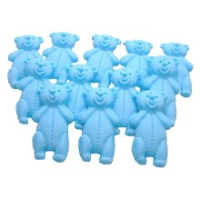 12 Edible Coloured Little Teddys Babyshower Cupcake Cake Toppers