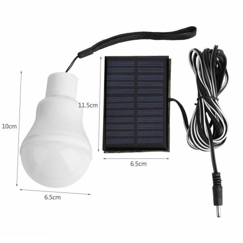 Solar Panel Power LED Bulb Lights Rechargeable Outdoor Camping Tent Lamp