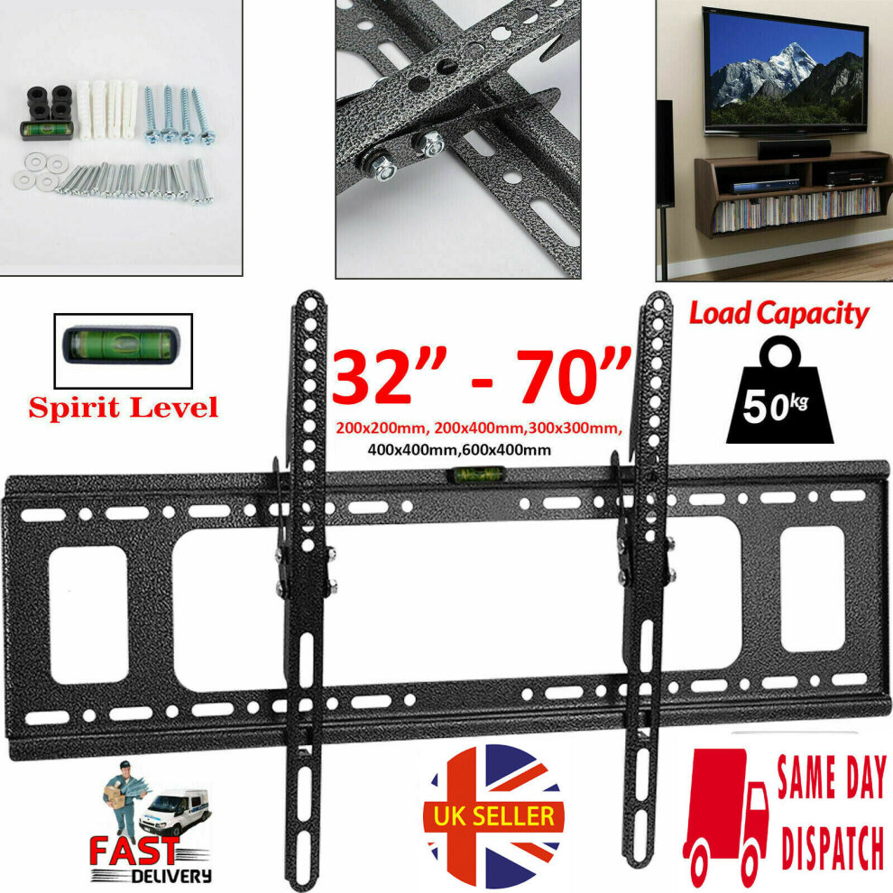 "TV Wall Bracket Mount Tilt Stand For 14 32 40 42 50 55 60 65 70/"" Inch Plasma LCD"