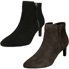 Ladies Clarks Heeled Ankle Boots Calla Blossom - D Fit