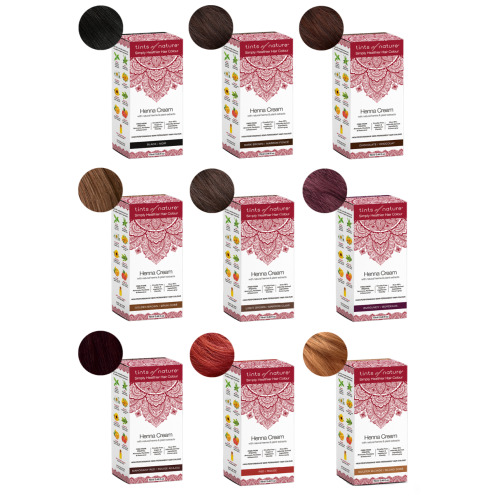 Tints of Nature Vegan Henna Cream Hair Dye 70ml- Semi-Permanent Home Hair Dye From Tints Of Nature Made With 95% Naturally Derived Ingredients