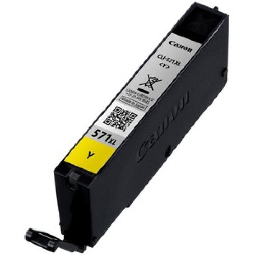 Canon Cli-571Y Xl Original Ink Cartridge Yellow Inkjet High Yield 680 Pages 0334C001