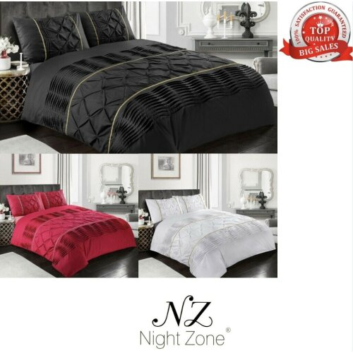Eleanor Laced Pintuck  Pinch Duvet Cover