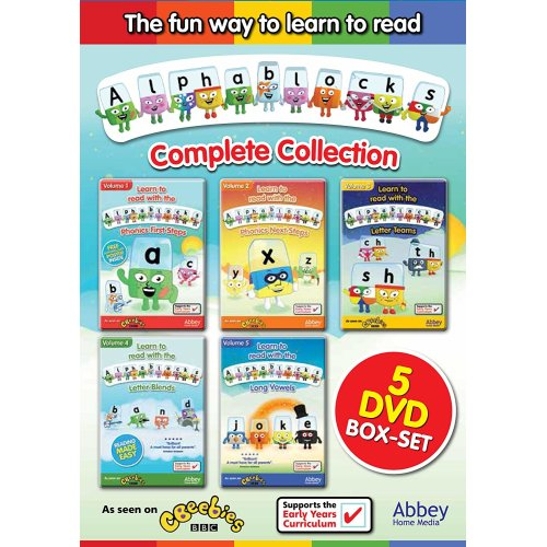 Alphablocks Complete DVD Collection   CBeebies DVD Box Set