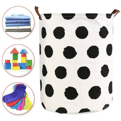 Foldable Large Laundry Home Storage Hamper Dirty Clothes Bag Bin Baskets Tidy