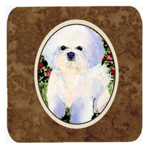 Bichon Frise Foam Coasters, Set - 4