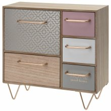 Wooden Mini Dresser Cabinet Shabby Chic Drawer Jewellery Storage Shelf Organiser