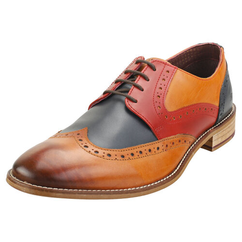 London Brogues Tommy Four Eyelet Mens Brogue Shoes