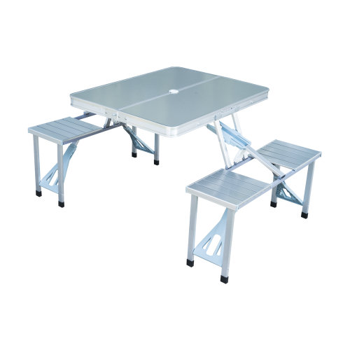 Outsunny Portable Folding Camping Picnic Table and Chairs Stools Set Party Field