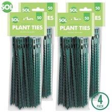 200 x Green Garden Twist Ties   Versatile Plastic Ties