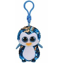 TY Flippable Sequin Key Clip Payton the Penguin
